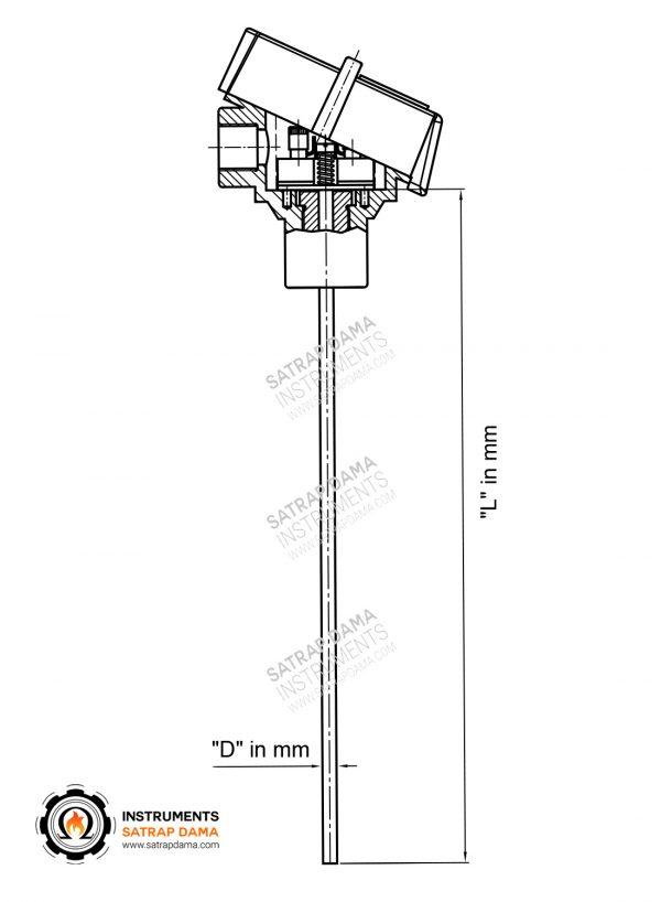 نقشه شماتیک ترموکوپل ضد انفجار